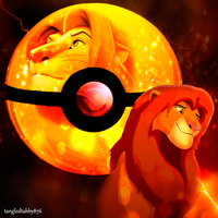 Simba Pokeball by TangledTabby876