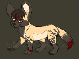 .:Taken:. African wild dog adoptable by Okoe