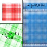 7 Tartan PS Brushes by superlibbie