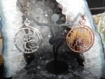 Wire Wrapped Weeping Willow Pendants by DeadHeartMare