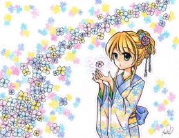 Dyea wearing Kimono by Colorful--Melody