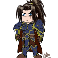Quick chibi varian wrynn doodle by hclark