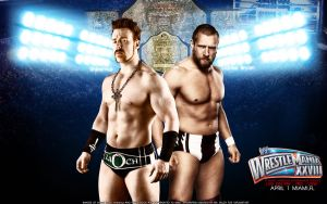 WrestleMania XXVIII Sheamus vs. Daniel Bryan by Mr-Enjoy