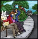 Bus Stop Giggle by Arctic-Sekai