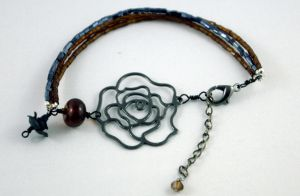 Rootbeer and Roses Bracelet by michelleaudette