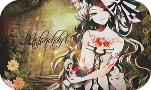 Melancholy smile - Firma by galaica