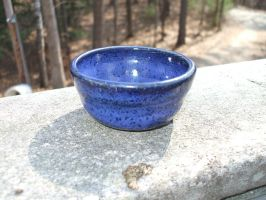 Small pot w turbo indigo glaze by Potterycat