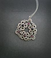 silver pendant with pearls by nastya-iv83