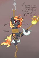 Incendia Captured! Again! by DarkKnightHoof