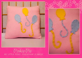 Pinkie Pie Pillow by FlairtotheSky