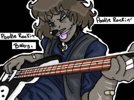 Poodle Rockin Baby by Doofapus