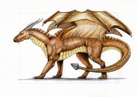 Draconniss the brown dragon by MargotShareaza