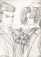 Phoenix n Edgeworth lined by Marimokun