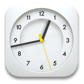 Clean White Analog Clock for xwidget by Jimking