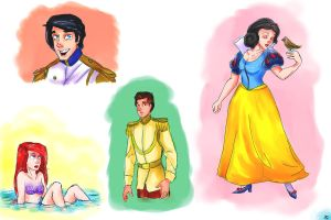 Disney princess dump 2 by Ghoulsnap