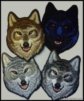 Alpha wolf head  - Embroidered patches by goiku