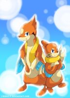 Floatzel and Buizel