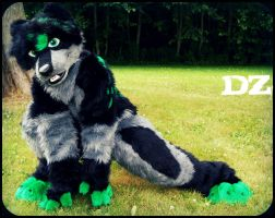 Wolf full-suit fursuit by DexterousZombie