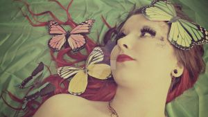 Butterflies In My Hair by KayleighBPhotography