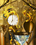 Commission - Dragons of Time by Cryophase