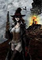 Witch Hunter pinup by OFFO