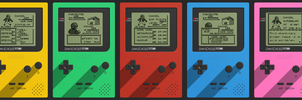 Game Boy Business Card Set by Pencil-X-Paper
