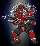 Tesla Trooper - Crimson Dynamo by Wick-Thorius