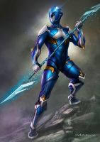 Power Ranger - Blue - Redesing by Aioras