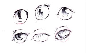 eyes sketches by DaveToons