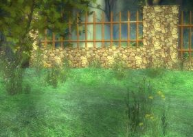 Woods and Fence Background by Lil-Mz