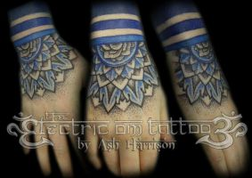 Mandala Hand Tattoo by VillKat-Arts