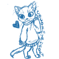 Sweatercats kitty sketch ex. by ColorMyMemory