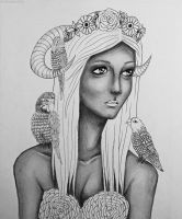 wip parrot lady by Mrs-Elric-613
