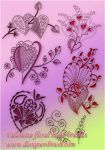 Valentine floral  heart brush by designersbrush