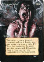 Magic Card Alteration: Animate Dead by Ondal-the-Fool