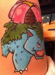 Venusaur- Face Painting- Side by sazmullium