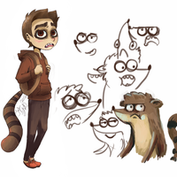 Rigby humanized by Tornadotrailer