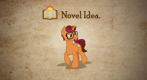 Novel Idea - Parchment Background (Center) by MLP-NovelIdea