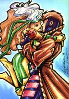 Rogue and Gambit SC commish by Axebone