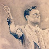 Leonardo DiCaprio as The Wolf of Wall Street by PatrickRyant