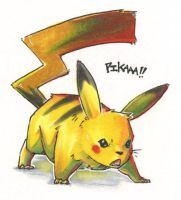 Pokemon - Pissed Pika by Seylyn