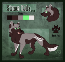 Simon Coda Reference Sheet by WindWo1f