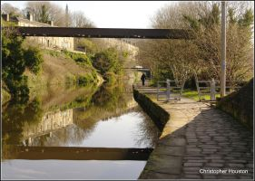 March:Canal at Sowerby Bridge by squareprismish