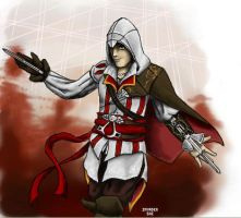 Ezio, Inside the Animus by Invader-Shi