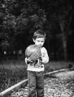 Kid with Ball in the Park by ied3vil