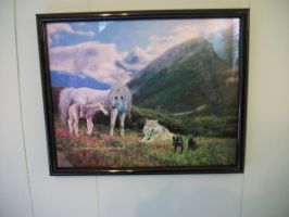 Spring by GhostHorse01 for me FRAMED ON MY WALL by grandmoonma