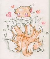 9 tailed fox by OniNatsuyo