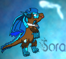 Sora Chibi (dragon) by SuperSonicFireDragon