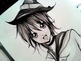 Halloween 4 -  Witch!!! Ink by yuukitaachi