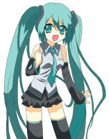 Miku --- Colored by Innocently-Creating